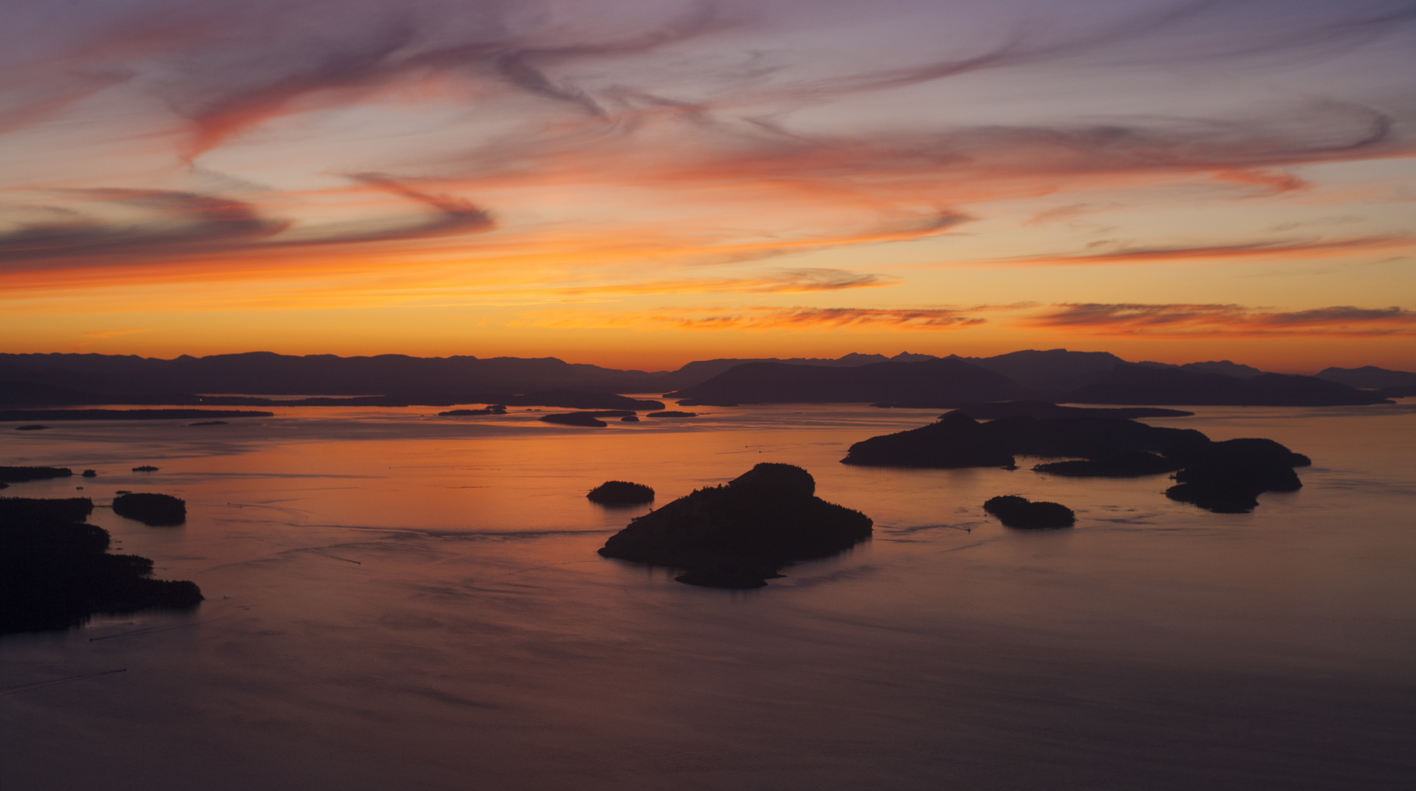 northwest-san-juan-islands-sunset-aerial-spieden-and-stuart-2
